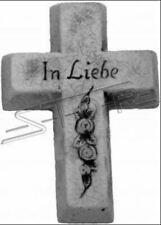 Grabengel Kreuz Grab Deko Grabschmuck Stein Dekoration Statue Skulpturen S111032