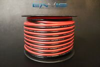 10 GAUGE 100FT RED BLACK ZIP WIRE AWG CABLE POWER GROUND STRANDED COPPER CLAD EE