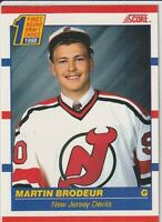 Martin Brodeur New Jersey Devils 1990-91 Score(FRENCH) Rookie Hockey Card #439