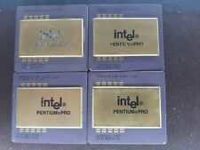 4X INTEL PENTIUM PRO VINTAGE  FOR GOLD SCRAP RECOVERY