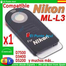 Mando Distancia NIKON ML-L3 ★D7500 D3400 D3200 D5200 P900 P7100 1J2 1V2 ★