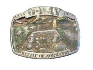 [1993] D-DAY Battle of Normandy Belt Buckle of Normandy 1944-1994- Siskiyou
