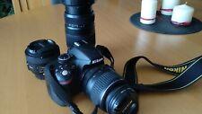 Nikon D3200 + objetivos + cargador + batería +