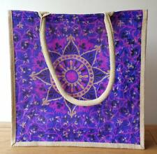 Jute SilkTote Shopping Bags Eco Re-Useable 4 Great Designs Fab Durable Shopper
