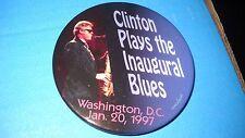 "Clinton plays the Inaugural Blues 1/20/97 political pin - 3""pin b"