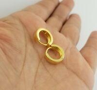 14K Gold Infinity Huggie Hoop Earrings