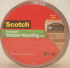 "Scotch 3M Double-Sided Outdoor Mounting Tape 1"" X 450"" Holds up to 5 LBS"