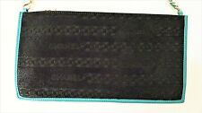 CHANEL Exotic pony hair leather wristlet clutch bag purse embossed logo mint