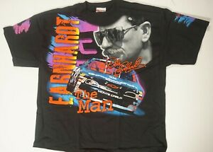 Dale Earnhardt Sr #3 The Man Born To Run All Over Total Print T-shirt -Sz Medium