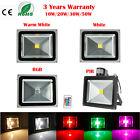 10W 30W 50W 100W 300W LED Flood Light Outdoor Lamp RGB Warm/Cool White PIR Lamp