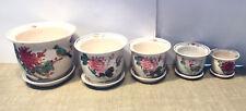 Ceramic Flower Pottery Set of 5