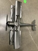 Large Bi-plane Nuts & Bolts Figurine H&K Steel Sculptures Art