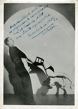"""MARLENE ET WILLY"" Photo originale dédicacée 1942"