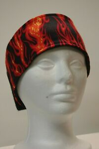 #008 Flames Fleece lined adjustable headband