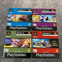 McDonald's 1-4 PS1 PlayStation 1 Demo Disc Bundle Collection PAL In Sleeves Rare