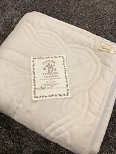 Vintage Twin Ivory Floral Country Curtain Red Lion Inn Quilt Bedspread New