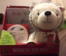 2013 Christmas Hallmark Interactive Story Buddy Jingle All the Way Husky Dog NIB