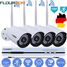 4CH 1080P HD Wireless Wifi NVR WLAN IP Kamera Set Funk Video Überwachungssystem