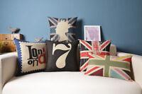 Union Jack Flag Queen London Big Ben Home Decor Cushion Cover Throw Pillow Case