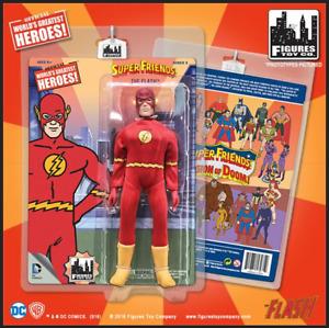 """DC Comics Super Friends Retro 8"""" Action Figure The Flash Mint on Card"""