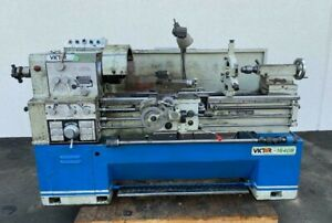"""VICTOR 1640B Precision Gap Bed Engine Lathe 16"""" Swing x 40"""" Between Centers"""