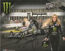 2016 Brittany Force signed Monster Top Fuel NHRA postcard