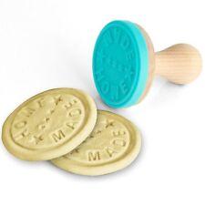Timbro In Silicone Stampo Per Biscotti Home Made Con Manico Legno 7x6x6 cm