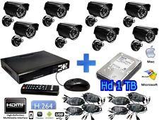 KIT VIDEOSORVEGLIANZA DVR HDMI 8 CANALI H.264 + HD 1 TB