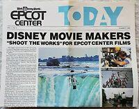 RARE SUMMER 1982 WALT DISNEY WORLD EPCOT CENTER NEWS PRE OPENING NEWSLETTER