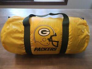 Vintage GREEN BAY PACKERS NFL Football Duffel Gym School Bag Backpack Yellow 70s