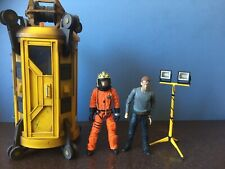 2 x DOCTOR WHO FIGURES :-TOBY Z , 10th DOCTOR + SATAN PIT ELEVATOR and LIGHT!