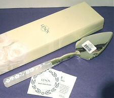 Lenox Bellina Cake Dessert Server Frosted Crystal Handle Stainless Blade New