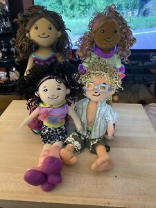 Groovy Girls Lot Of 9 Items. Dolls Furniture And Stands!