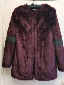 Ladies Vintage Boutique Collection Faux Fur Jacket/Coat Size 12