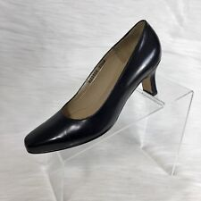 9896fb8ed0e Ros Hommerson Women s Pumps Size 7.5 M Black Leather Square Toe
