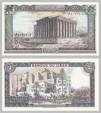 Libanon / Lebanon 50 Livres 1988 p65d unz.