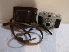Vintage Agfa Silette Pronto Camera w/ Agfa Apotar 1:3.5 45mm Lens & Case