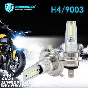 55W COB H4 HB2 9003 HS1 LED Motorcycle Headlight Bulb Kit 6000K Bike Hi/Lo Beam