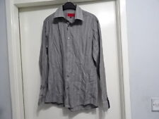 MENS HUGO BOSS LONG SLEEVE ASH MIX PAPER SHIRT SIZE M GREAT CONDITION