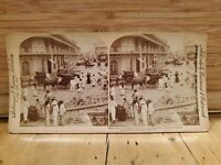 Antique Stereoscope Stereo Photo Cards 1899 Phillipines Fort Santiago downtown