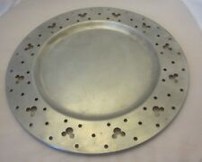 Mickey Mouse Silver Metal Charger Platter Plate Rare Vintage - Cut Out