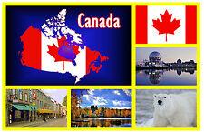CANADA MAP / FLAG - SOUVENIR NOVELTY FRIDGE MAGNET - NEW - GIFT