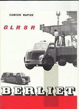 Berliet Glr 8r camión Camión folleto de ventas de 1958