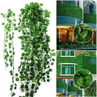 2.5M Artificial Ivy Leaf Garland Plant Vine Fake Foliage Flowers Home Decor Hot
