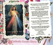 Chaplet of Divine Mercy - Scalloped paperstock Holy Card
