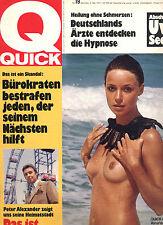 Kult-Illustrierte QUICK, Nr  19  v 1972, Peter Alexander, Uwe Seeler, Bürokraten