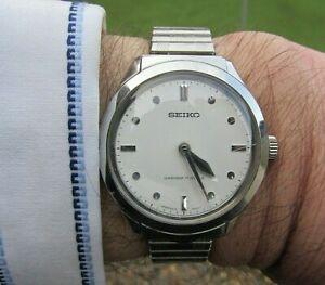 Rare Seiko 'Braille' 17Jewel Diashock Watch #6618-8001 - GWO/Very Clean