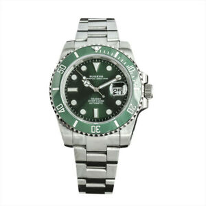 Sugess Seiko NH35 Hulk Submariner 200m Automatic Divers Watch Sapphire  Ceramic