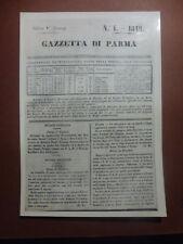 ARCHIVIO FOTO VAGHI - PARMA GAZZETTA 1848 - NUOVO SOVRANO CARLO