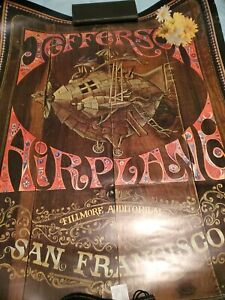 1967 Jefferson Airplane  Fillmore Auditorium San Francisco Concert Poster